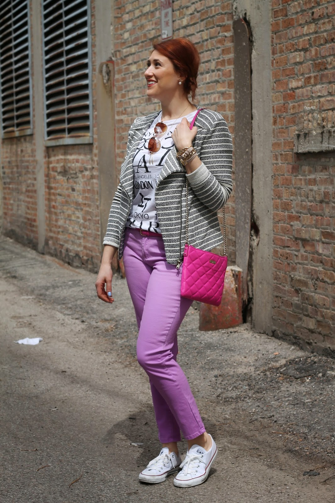 kate, spade, quilted, pink