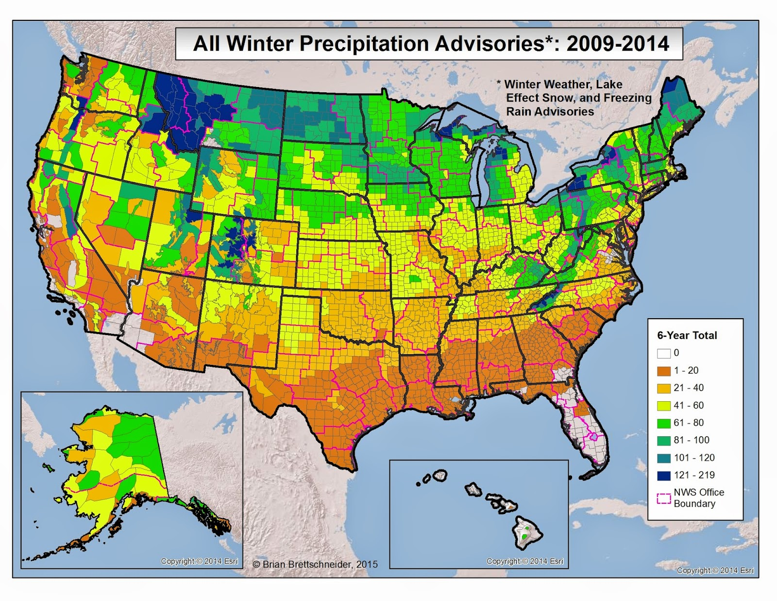 Brian Bs Climate Blog US Winter Weather Advisories And Warnings - Nws us regions map