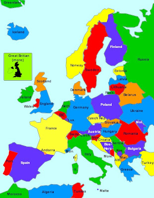 Politische Karte Europa