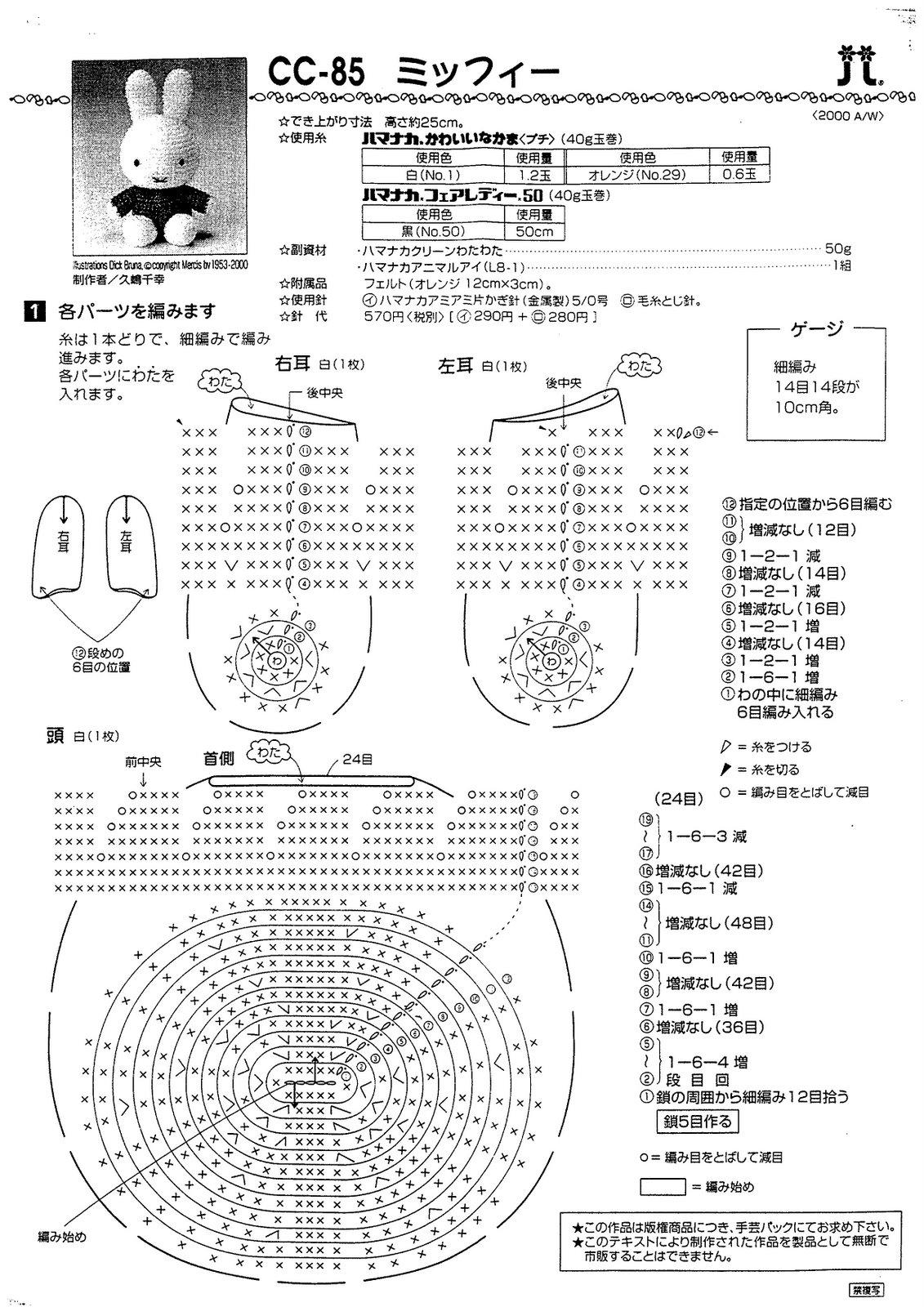 Amigurumi Crochet Diagram :