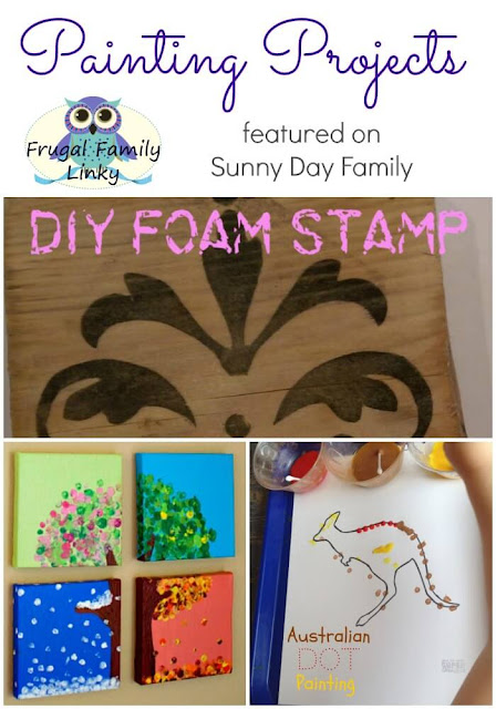Awesome DIY painting projects featured on this week's Frugal Family linky!