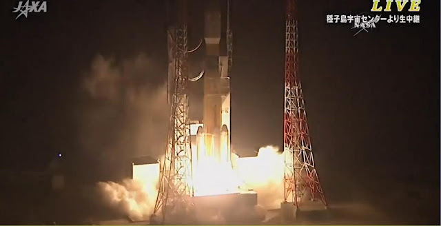 Japan launches HTV-5 cargo spacecraft to Space Station on Aug. 19, 2015. Credit: JAXA