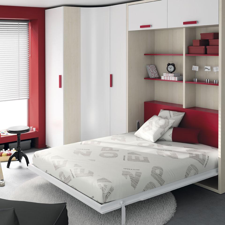 Muebles ros grandes ideas para peque os espacios - Cama empotrada en armario ...