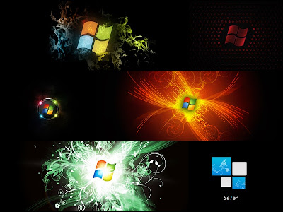 Windows 7 Black Windows Theme Screensaver