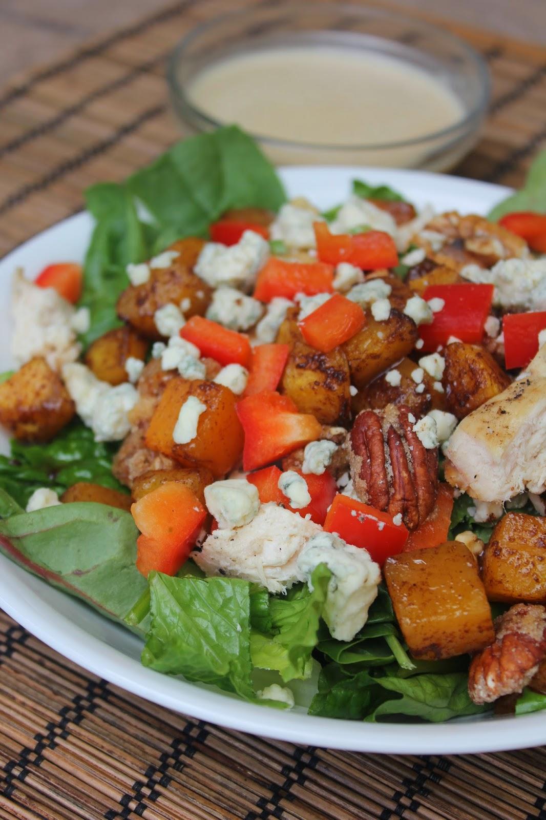 Toscana Italian Bistro Butternut Squash Salad with Maple Sage Cream Dressing, Recipe:  Salad, Recipe:  Chicken, Copycat Recipes, Easy Meal Ideas
