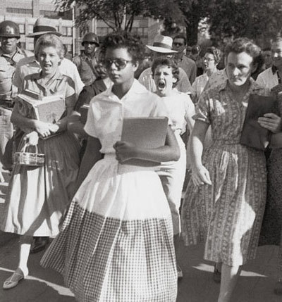 the harassment melba pattillo beals and other colored students faced in little rock central high sch Melba pattillo beals: of a school year like no other at little rock central high get used to going to school with colored children student: yes.