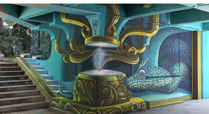 Το νεο απιθανο γκραφιτι στην Πολυτεχνειουπολη