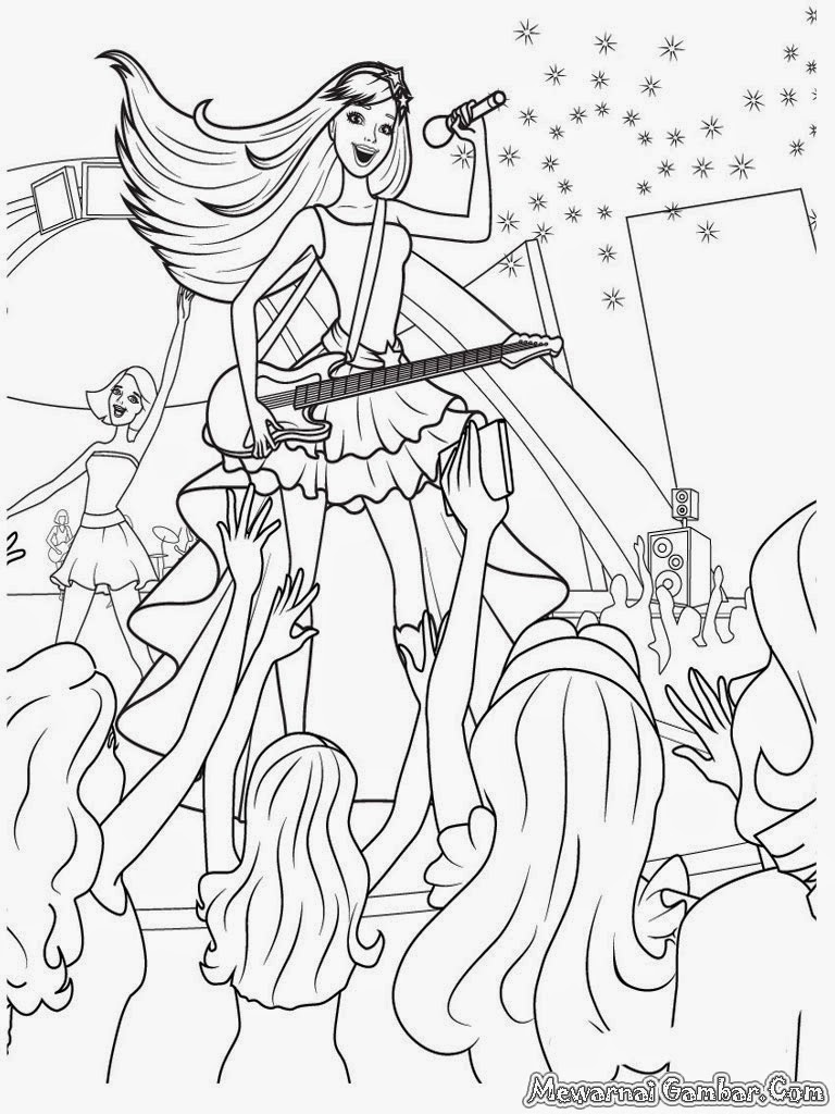 12 Barbie Dancing Coloring Book