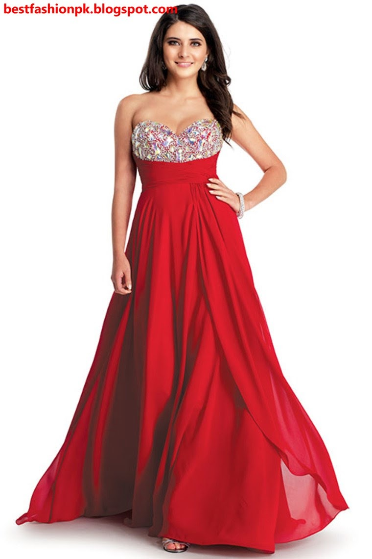 stylish valentine day party wear red dresses collection 2015 - Valentine Dresses For Girls