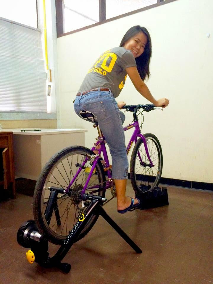 จักรยาน Touring บนเทรนเนอร์ CycleOps รุ่น Magneto