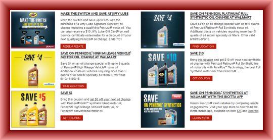 Pennzoil coupons
