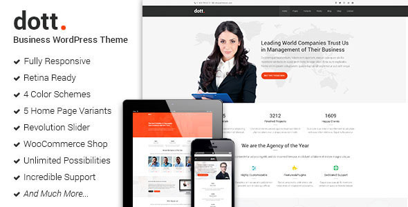 Free Download Dott Business WordPress Theme-Themeforest