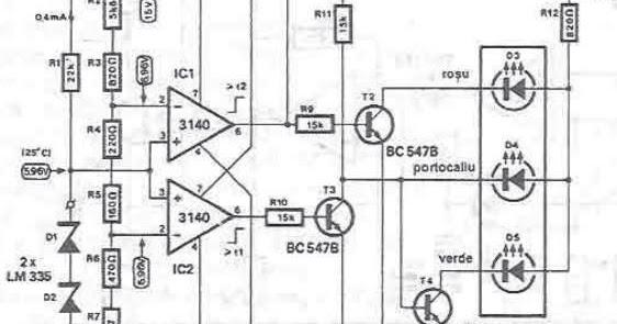 radiator temperature iindicator circuit diagram