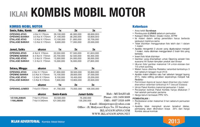 Jawa Pos Iklan Komunikasi Bisnis Mobil Motor 2013