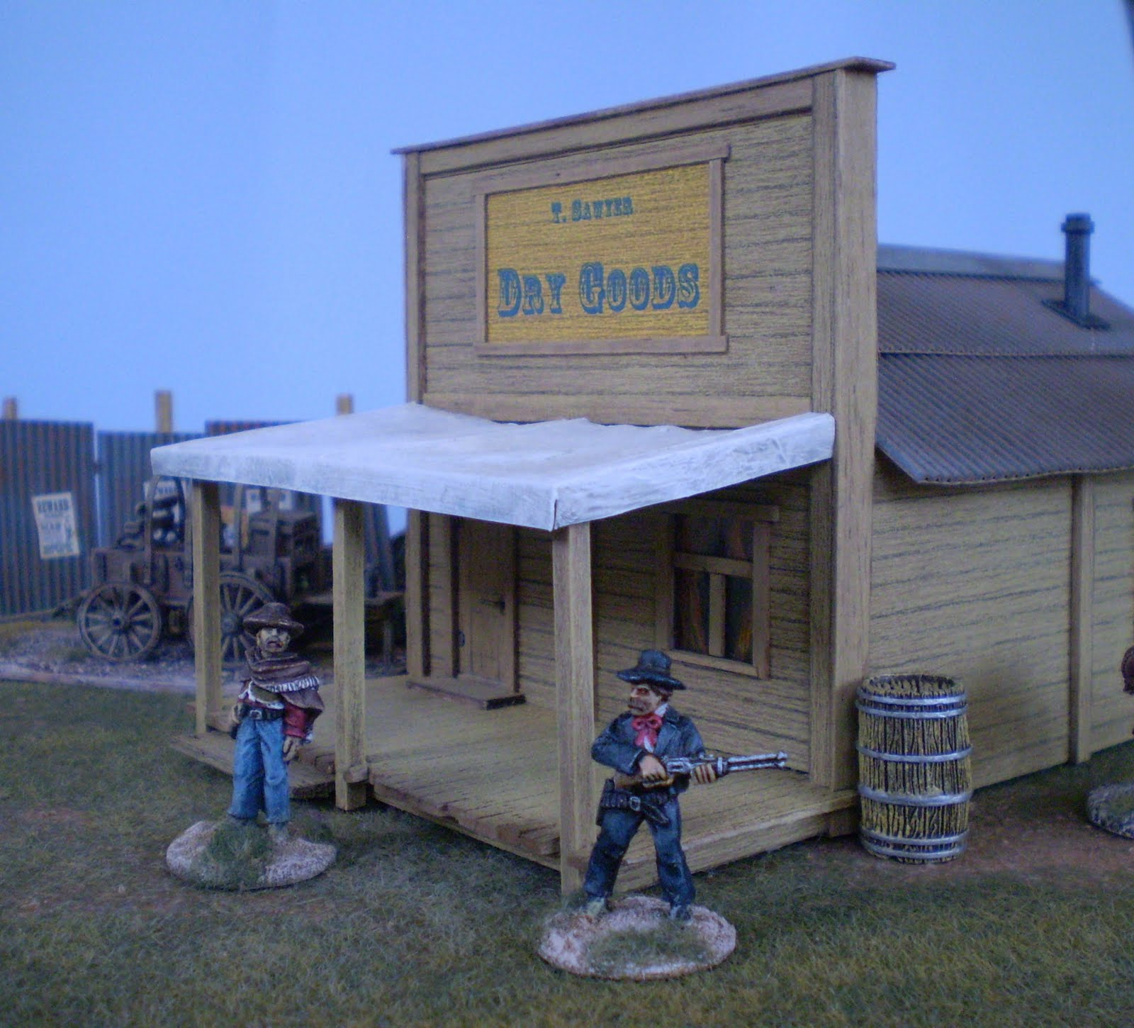 Old West False Front Buildings http://colonelotruth.blogspot.com/p/western-building-tutorial.html