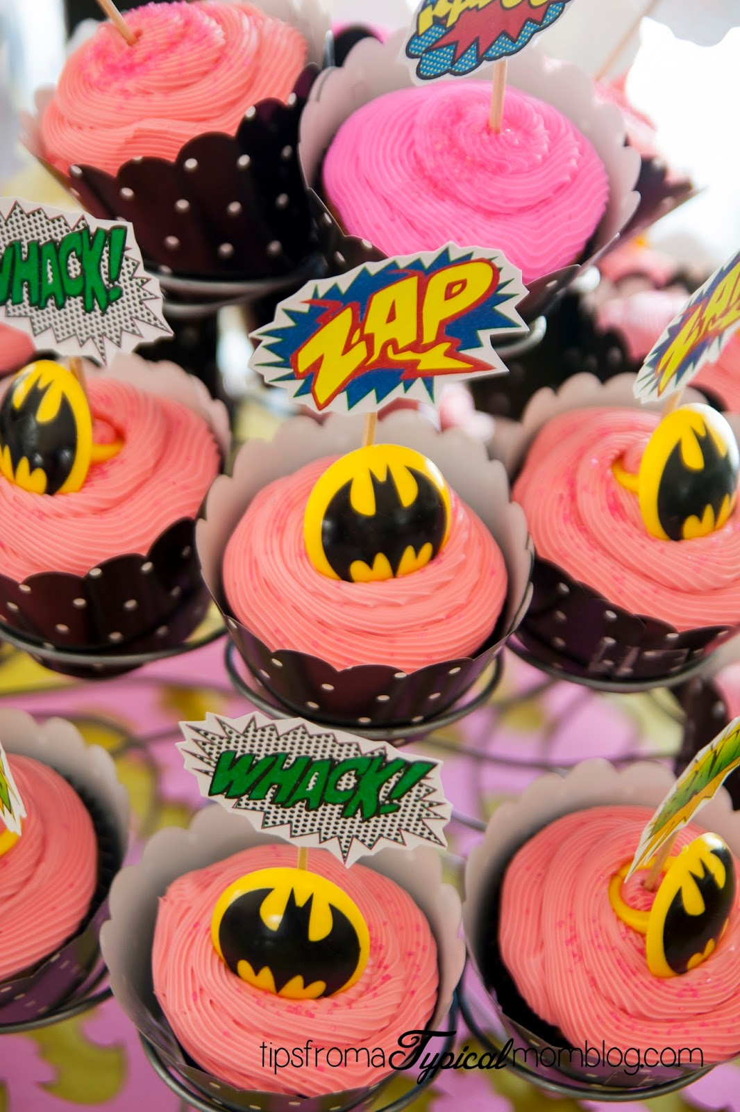 ... taping them to toothpicks. A Bat Man ring makes a nice addition too