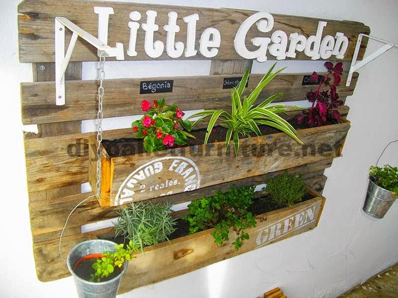 Una jardinera hecha con un palet y - Jardineras de madera ikea ...