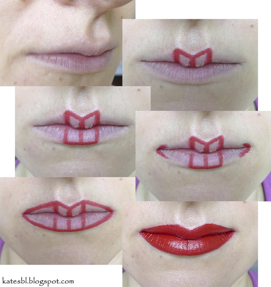 Ярко накрашенные губы у зрелой 3 фотография