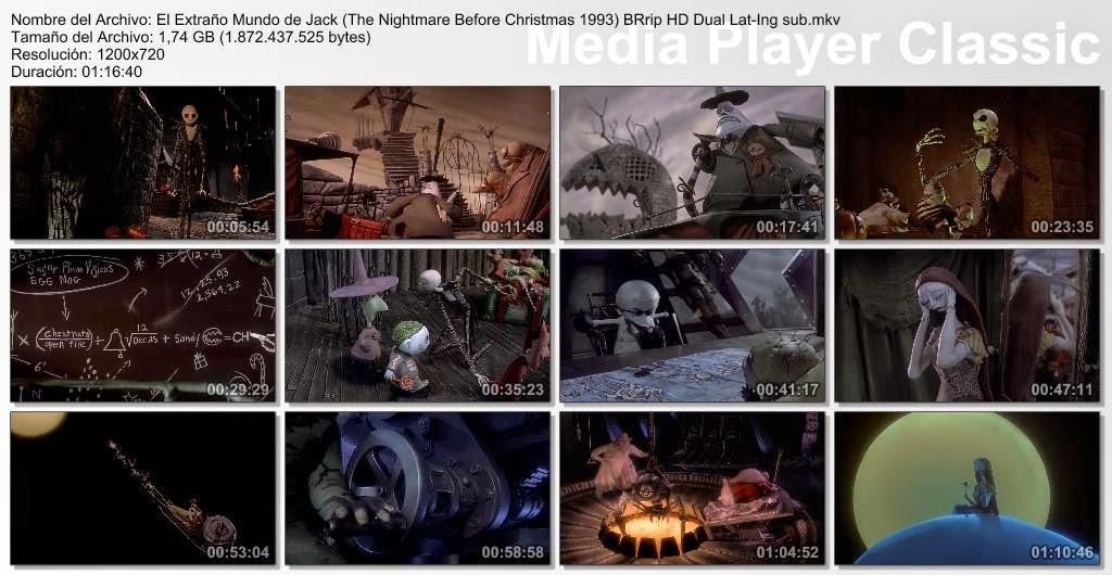 Resultado de imagen para El Extraño Mundo De Jack (1993) capturas