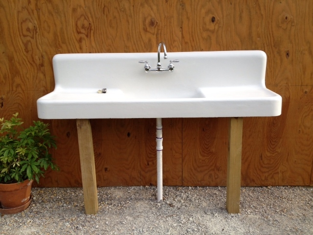 We Finally Have Installed The 1909 900lb. Cast Iron Sink In The Outdoor  Kitchen Area. The Sink Is Hooked To Plumbing That Can Be Drained In The  Winter So It ...