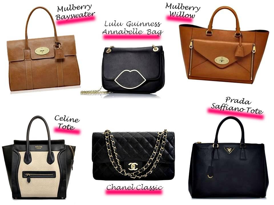 Designer Handbag List