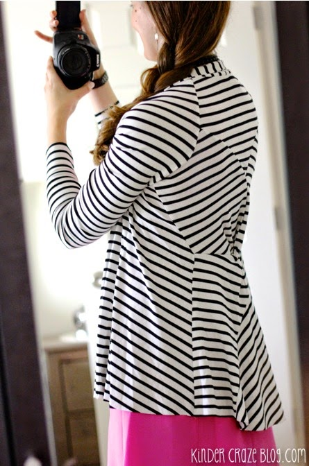 Clove twist back striped cardigan from Stitch Fix #stitchfix