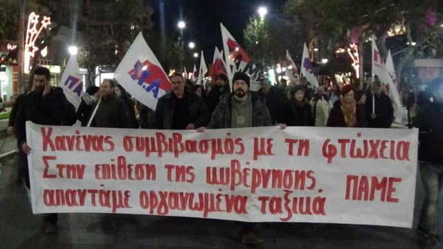 Αγωνιστικό συλλαλητήριο του ΠΑΜΕ στην Αλεξανδρούπολη ενάντια στο νομοσχέδιο με τα νέα αντιλαϊκά προαπαιτούμενα