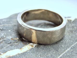 14ct recycle white gold ring ethical wedding