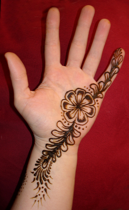 Hand Mehndi Easy Design : Henna designs for beginners drawings palm peacock form