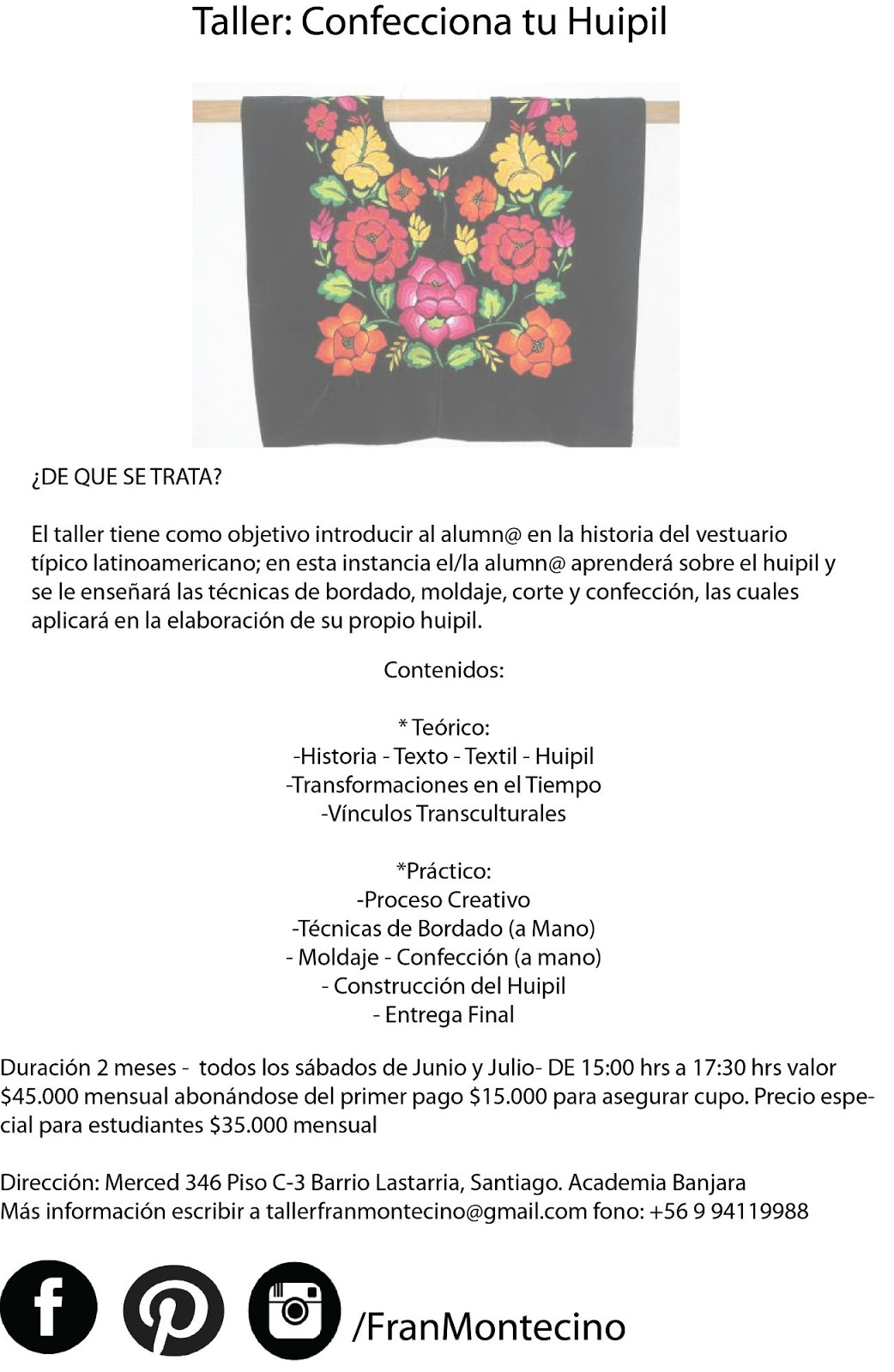 Fran Montecino te invita a confeccionar un huipil   Quinta trends ...