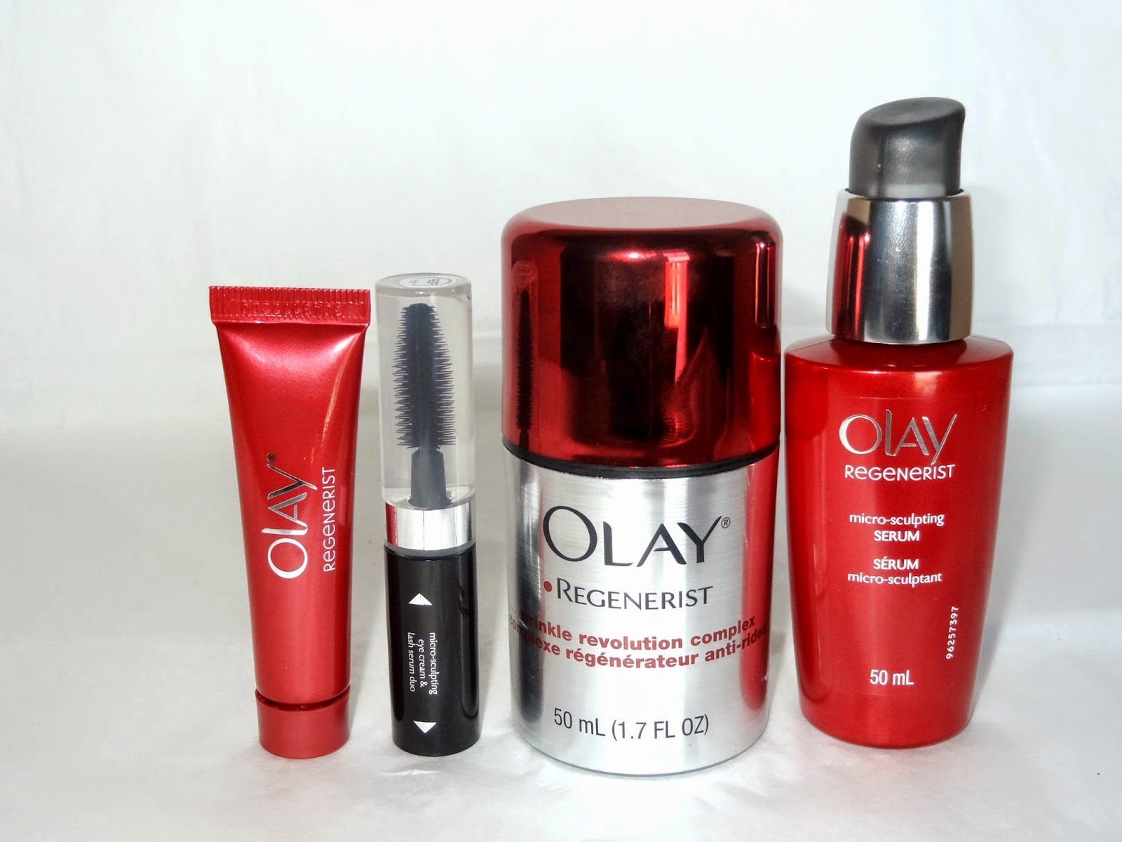 a picture of olay regenerist skin care line