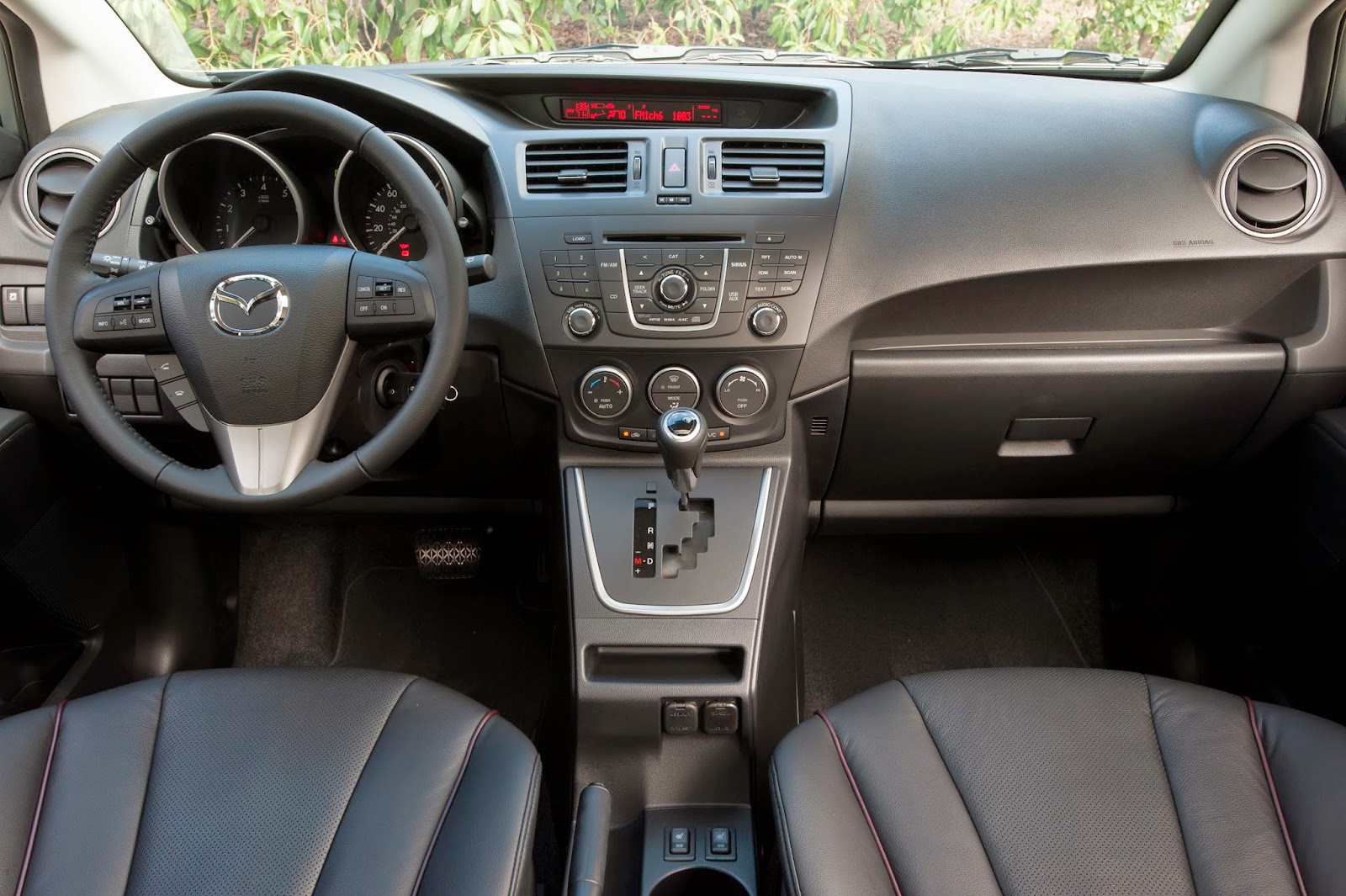 Interior view of 2015 Mazda 5.