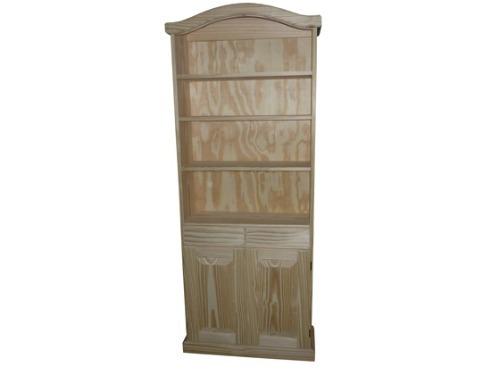 Casa pino biblioteca con puerta - Puertas de pino ...