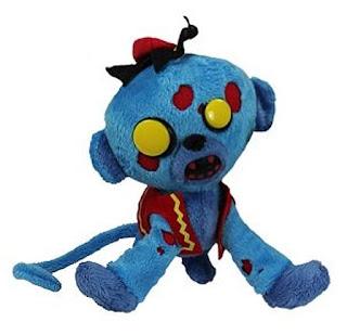 pluszowa małpka zombie