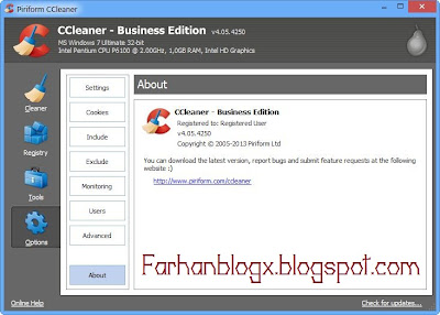 Download CCleaner 4.05 Business Edition Full Crack