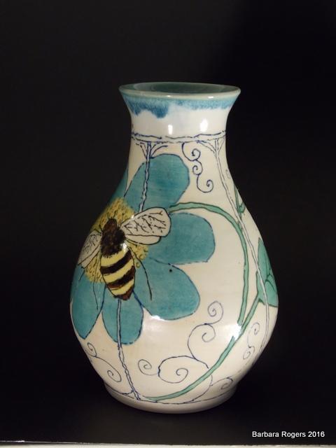Noveau vase, 6.5 inches tall