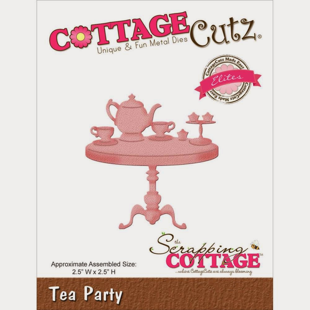 Tea party die from COTTAGECUTZ