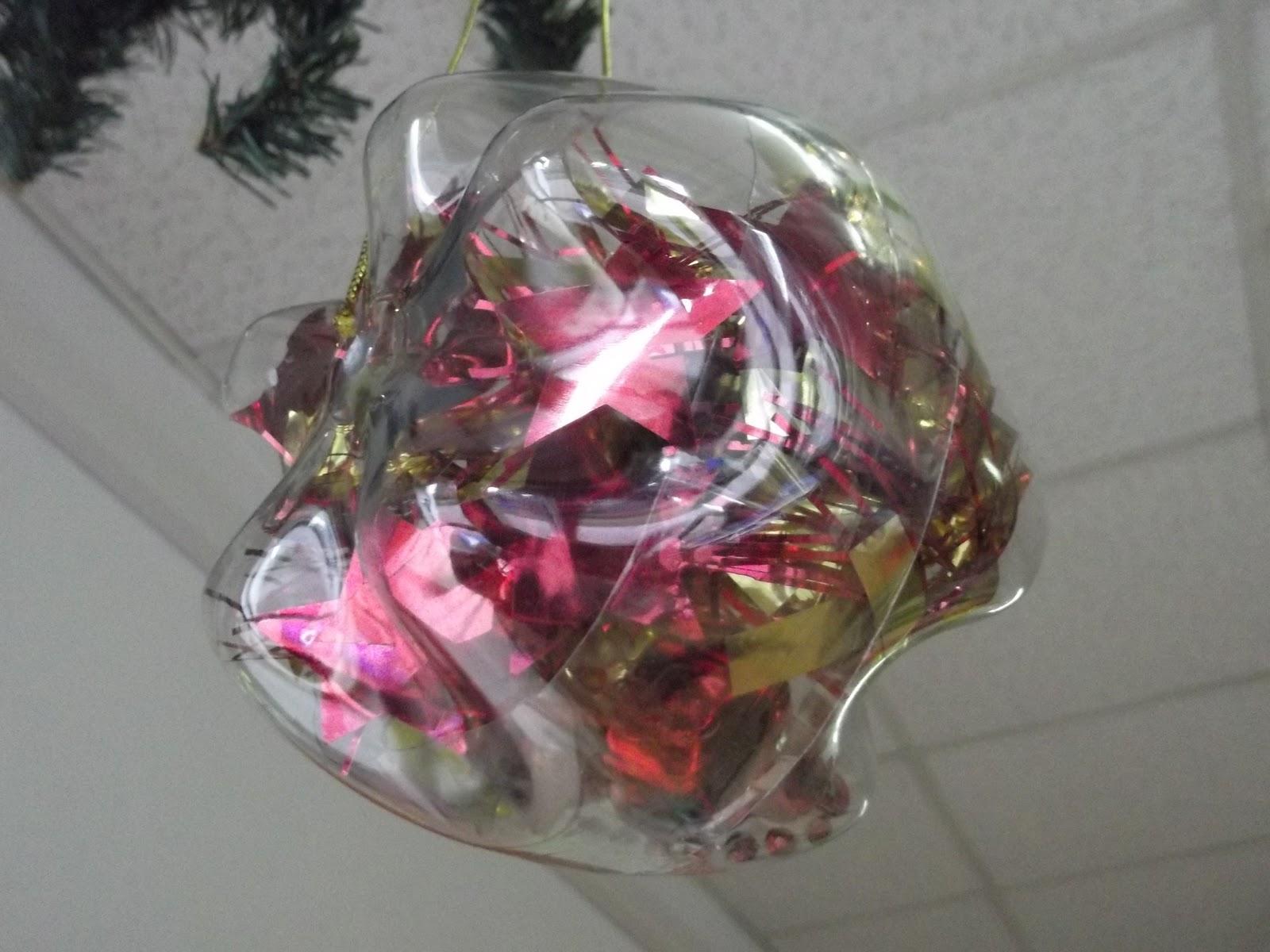 Popolare Palle di Natale con fondi di bottiglie pet ~ 1000 IDEE OK32