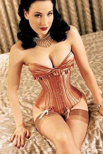 but in a corset she can  Waist Training Record