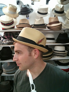 Straw stingy brim Hat from The Hat House in New York City