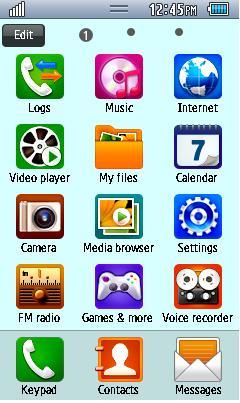 Samsung GT-S5330 Default Theme Free Download Menu