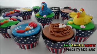 Cupcakes da galinha pitadinha