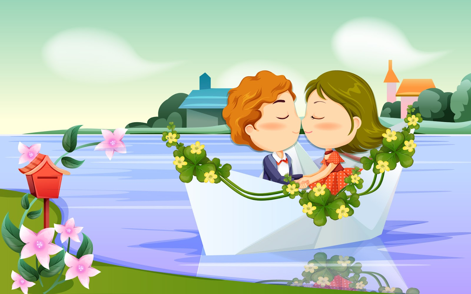 cartoon Wallpapers: Best romantic cartoons wallpaper 2012