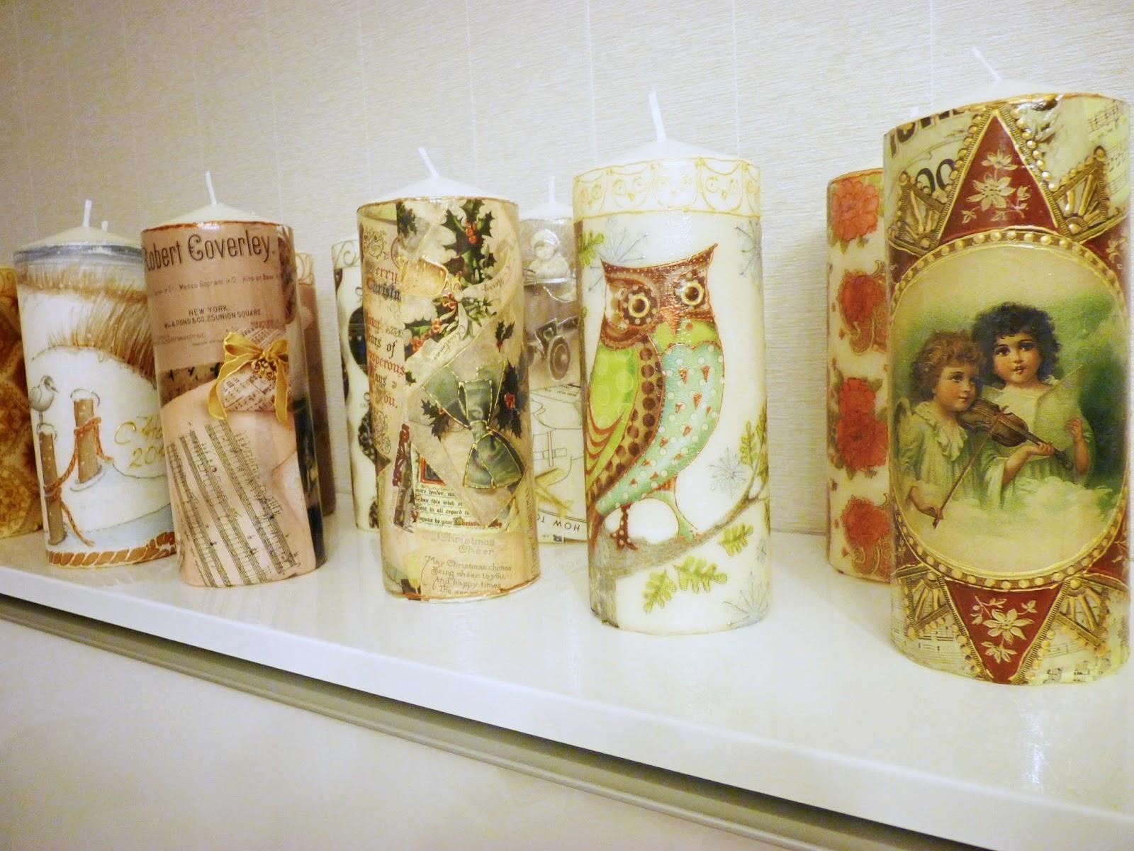 Для декупажа свечей