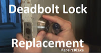 replacing a broken deadbolt lock