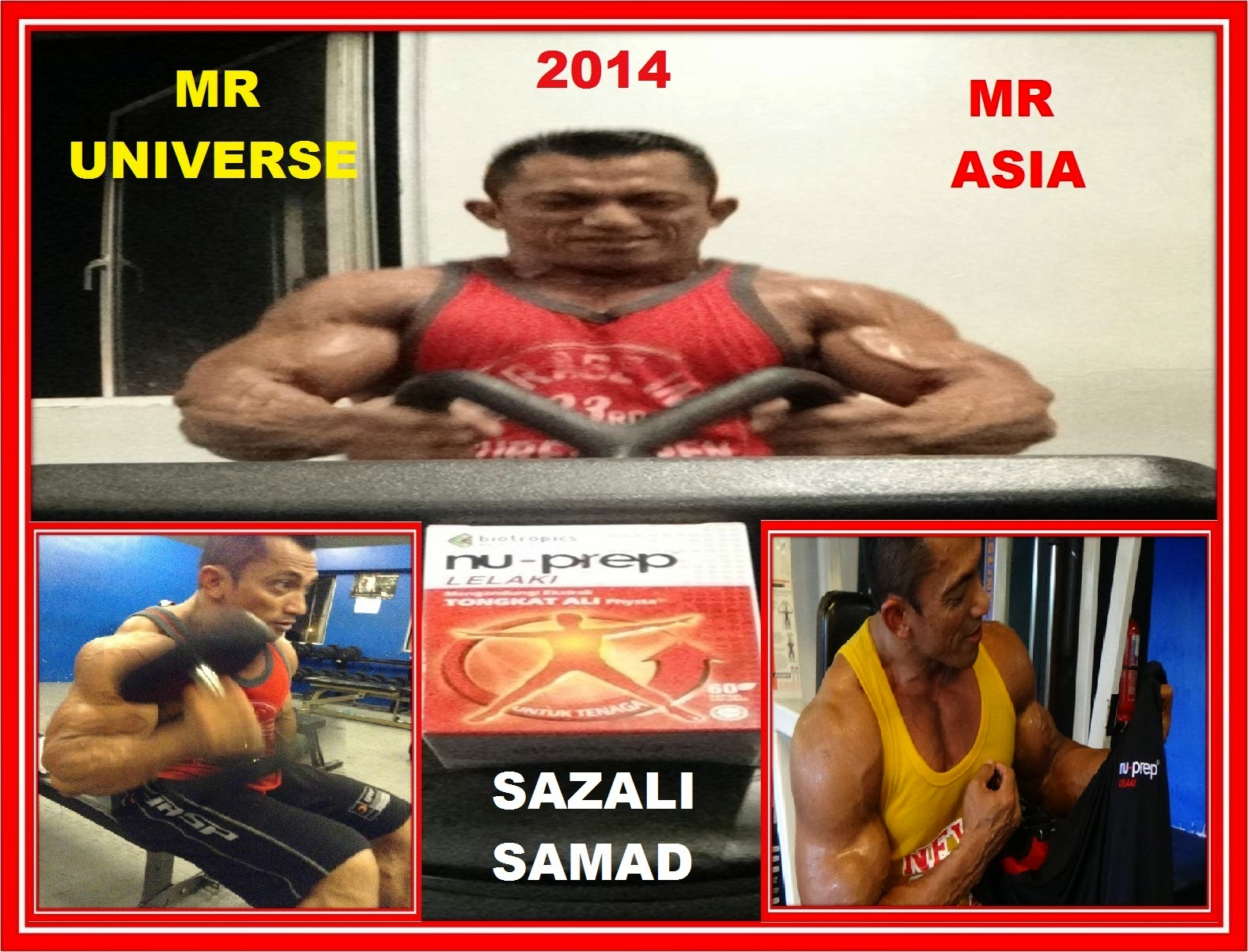 MR ASIA, MR UNIVERSE -SAZALI SAMAD 2014
