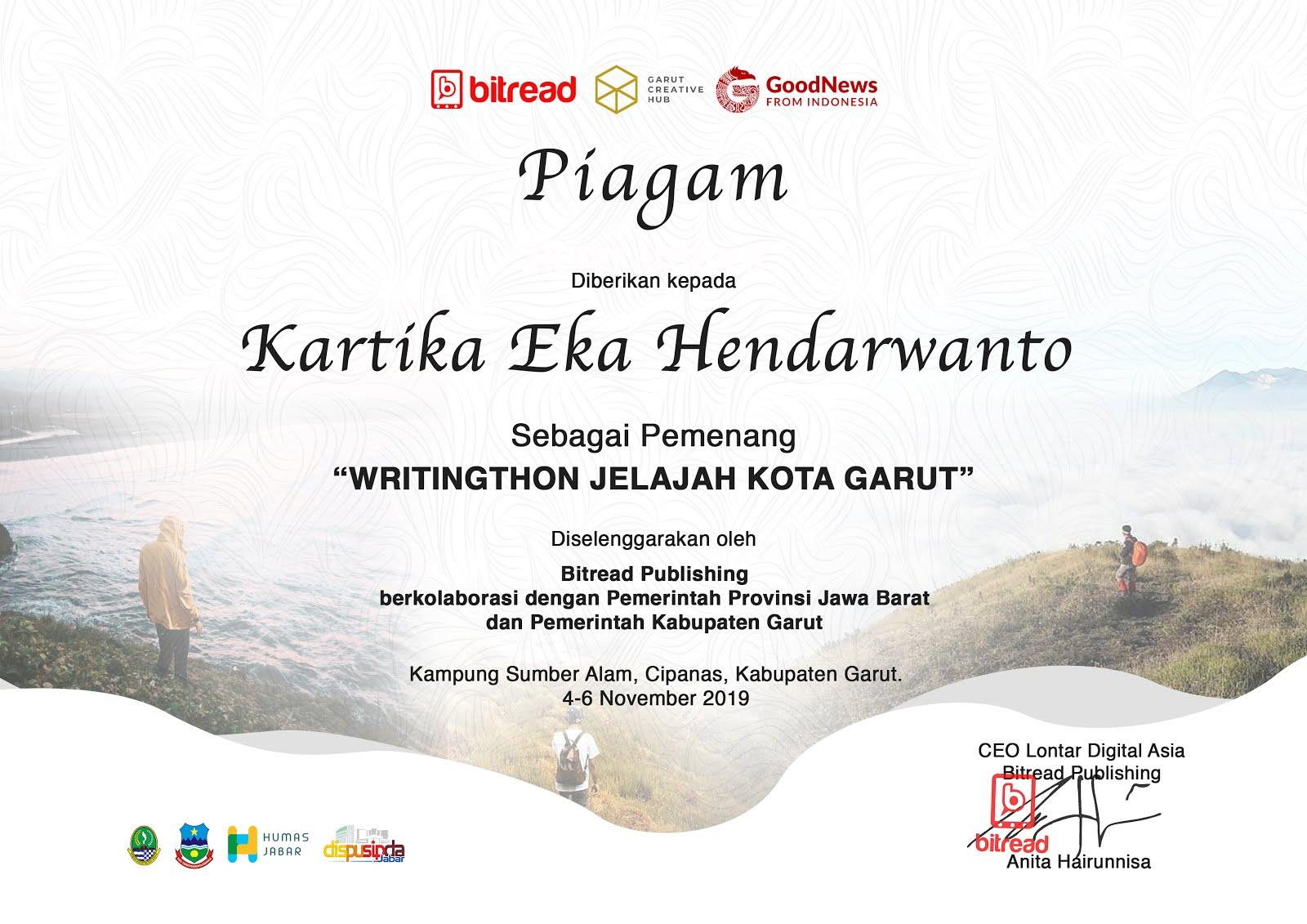 Writingthon Jelajah Kota Garut 2019
