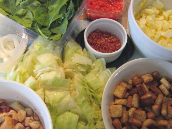 Cobb Salad...salad bar style with all the ingredients for build your own