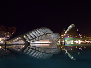 City of arts and sciences in Valencia riverbed park