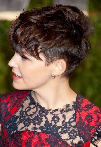 Geschoren Kapsels op Pinterest Half Geschoren Haar  - kapsels zijkant opgeschoren